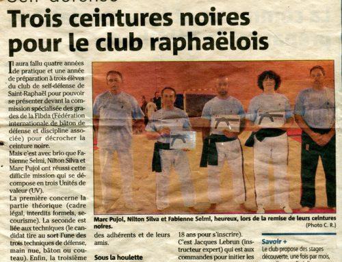 Self défense – Trois ceintures noires pour le club de Saint Raphaël