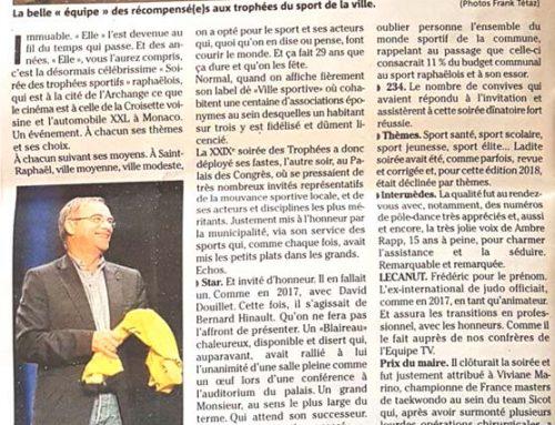 29eme soirée des trophées du sport – Jacques Lebrun reçoit la récompense  du Mérite