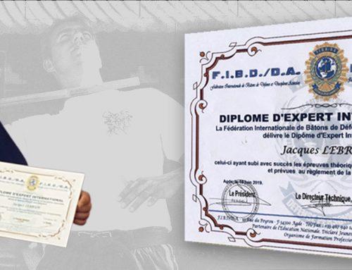 Remise officielle diplôme EXPERT INTERNATIONAL lors du cours commun multidiscipline