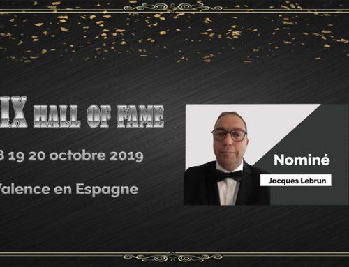 DP ACADEMY représenté par Jacques Lebrun au «XIX HALL OF FAME» en octobre  2019