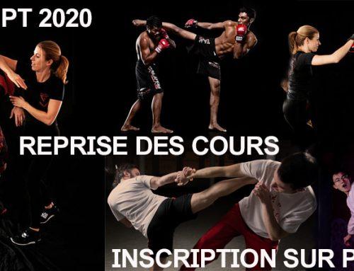 REPRISE DES COURS 2 SEPT. 2020